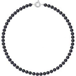 Naszyjniki damskie: Naszyjnik z pereł w kolorze czarnym – dł. 42 cm