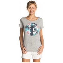 Rip Curl T-Shirt Damski Xs Szary. Szare t-shirty damskie marki Rip Curl, xs, z nadrukiem. W wyprzedaży za 99,00 zł.