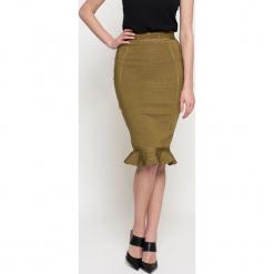 Missguided - Spódnica. Szare spódniczki ołówkowe Missguided, s, z elastanu, z podwyższonym stanem, midi. W wyprzedaży za 79,90 zł.