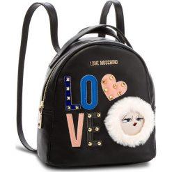 Plecak LOVE MOSCHINO - JC4273PP06KJ0000 Nero. Czarne plecaki damskie marki Love Moschino, ze skóry ekologicznej, eleganckie. Za 719,00 zł.