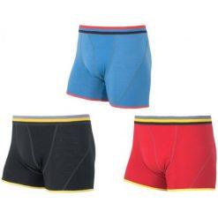 Bokserki męskie: Sensor Bokserki Merino Wool 3-Pack Black / Red / Blue S