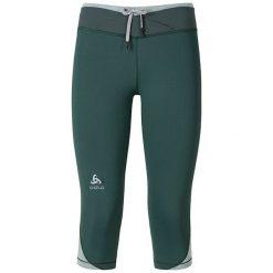 Odlo Spodnie Odlo Tights 3/4 HANA zielone r. XL. Zielone spodnie dresowe damskie Odlo, xl. Za 158,85 zł.