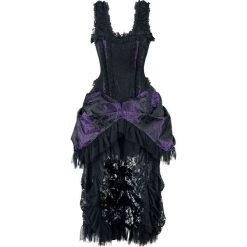 Burleska Versailles Dress Sukienka czarny/jasnofioletowy. Fioletowe sukienki koronkowe marki Reserved, z falbankami. Za 527,90 zł.