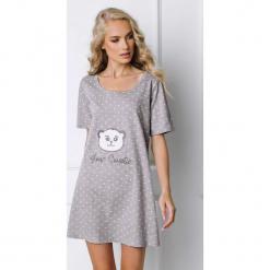Koszula nocna Sweet Bear. Szare koszule nocne i halki marki Astratex, w koronkowe wzory, z bawełny. Za 103,78 zł.