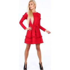 Sukienki: Sukienka z falbankami czerwona 1893