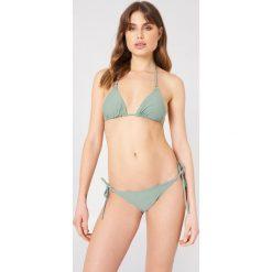 Stroje kąpielowe damskie: NA-KD Swimwear Metal Ring Tie Strap Panty – Green