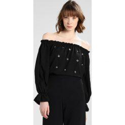 Bluzki asymetryczne: Dorothy Perkins EMBELLISHED BARDOT Bluzka black