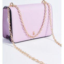 Torebki klasyczne damskie: Mini torebka na łańcuszku - Fioletowy