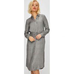 Vila - Sukienka Vitekla. Szare długie sukienki marki Vila, na co dzień, z tkaniny, casualowe, proste. W wyprzedaży za 149,90 zł.