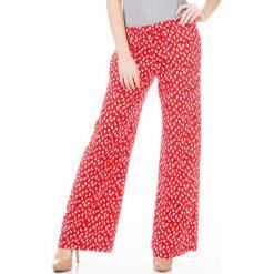 Spodnie z wysokim stanem: Spodnie w kolorze czerwonym