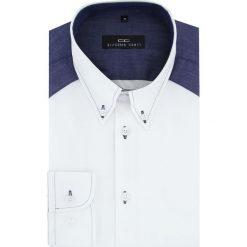 Koszula BIAGIO slim 15-08-30-K. Czarne koszule męskie na spinki marki TOM TAILOR DENIM, l, z bawełny, button down, z długim rękawem. Za 199,00 zł.