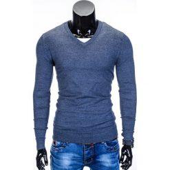 Swetry klasyczne męskie: SWETER MĘSKI E74 – GRANATOWY/MELANŻOWY