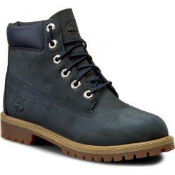 Trapery TIMBERLAND - 6 In Prem 9497R Navy Blue. Niebieskie buty zimowe chłopięce Timberland, z materiału. W wyprzedaży za 369,00 zł.