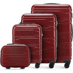 Zestaw walizek 56-3P-98K-30. Czerwone walizki marki Wittchen, z gumy, duże. Za 907,68 zł.