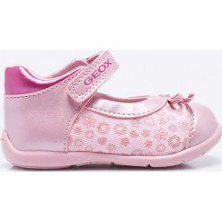 Geox - Baleriny dziecięce. Różowe baleriny damskie Geox, z materiału. W wyprzedaży za 129,90 zł.
