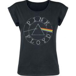 Pink Floyd Logo Circle Koszulka damska czarny. Czarne bluzki nietoperze marki Pink Floyd, xl, z okrągłym kołnierzem. Za 74,90 zł.