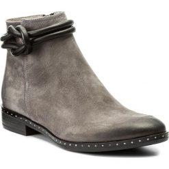 Botki CARINII - B4187 J51-E50-PSK-C63. Szare buty zimowe damskie Carinii, z materiału, na obcasie. Za 369,00 zł.
