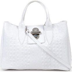 """Torebki klasyczne damskie: Skórzana torebka """"Bergamo"""" w kolorze białym – 37 x 24 x 18 cm"""