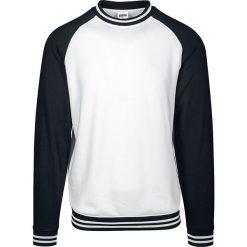 Urban Classics Contrast College Crew Sweter biały/czarny. Niebieskie swetry klasyczne męskie marki Urban Classics, l, z okrągłym kołnierzem. Za 121,90 zł.
