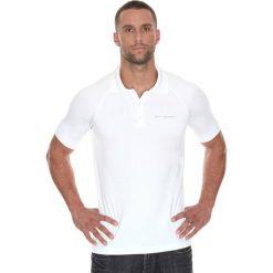 Koszulki polo: Brubeck Koszulka męska polo Prestige z krótkim rękawem biała r. XXL (SS10920)