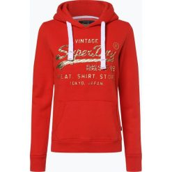 Superdry - Damska bluza nierozpinana, czerwony. Czerwone bluzy z kapturem damskie marki Superdry, l, z nadrukiem. Za 299,95 zł.