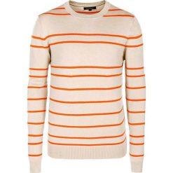 Swetry męskie: Sweter w kolorze beżowo-pomarańczowym