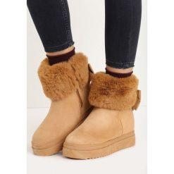 Camelowe Śniegowce Favoured. Brązowe buty zimowe damskie Born2be, za kostkę. Za 89,99 zł.