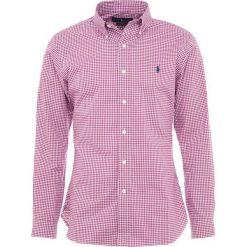Polo Ralph Lauren POPLIN Koszula burgundy/white. Szare koszule męskie marki Polo Ralph Lauren, l, z bawełny, button down, z długim rękawem. Za 459,00 zł.