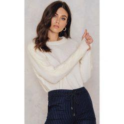 Swetry klasyczne damskie: Just Female Sweter Kiin – Offwhite