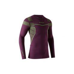 Koszulka termoaktywna długi rękaw dla dorosłych Kipsta Keepdry 500. Czarne odzież termoaktywna męska marki KIPSTA, z poliesteru, do piłki nożnej. Za 49,99 zł.