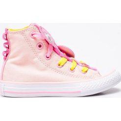 Converse - Trampki dziecięce Chuck Taylor All Star. Szare buty sportowe dziewczęce marki Converse, z gumy, z okrągłym noskiem. W wyprzedaży za 189,90 zł.