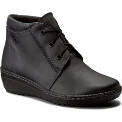Botki HELIOS - 518-2 Grafit. Szare buty zimowe damskie Helios, z nubiku, na obcasie. W wyprzedaży za 199,00 zł.