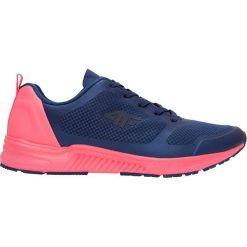 Buty sportowe damskie OBDS201Z - ciemny granatowy - 4F. Niebieskie buty sportowe damskie 4f, z nadrukiem, z gumy. Za 159,99 zł.
