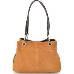 """Torebki klasyczne damskie: Skórzana torebka """"Giselle"""" w kolorze pomarańczowym – 30 x 20 x 12 cm"""