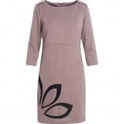 Ciemnobeżowa Sukienka Echo Arms. Brązowe sukienki marki Born2be, xl. Za 24,99 zł.