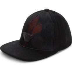 Czapka z daszkiem EMPORIO ARMANI - 627503 8A553 00020 Nero. Czarne czapki z daszkiem męskie marki Emporio Armani, z materiału. Za 369,00 zł.