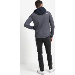Superdry MOUNTAIN BONDED ZIPHOOD Kardigan navy/white. Niebieskie swetry rozpinane męskie Superdry, m, z bawełny. W wyprzedaży za 363,35 zł.