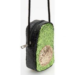 Torebki klasyczne damskie: Błyszcząca torebka na sznurku – Khaki