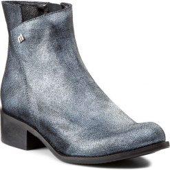 Buty zimowe damskie: Botki MACCIONI - 279 Czarny Srebrny