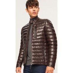 Pikowana kurtka ze stójką - Brązowy. Brązowe kurtki damskie pikowane marki LIGNE VERNEY CARRON, m, z bawełny. Za 259,99 zł.