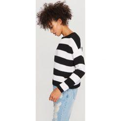 Kardigany damskie: Sweter z zabudowanym dekoltem – Wielobarwn