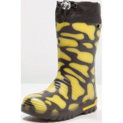 Lurchi PLATSCHI Kalosze black/yellow. Czarne buty zimowe damskie Lurchi, z materiału. Za 129,00 zł.