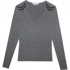 """Sweter """"Bambou Pepite"""" w kolorze szarym. Szare swetry klasyczne damskie marki Ateliers de la Maille. W wyprzedaży za 136,95 zł."""
