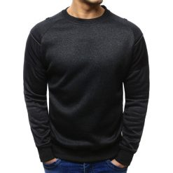 Bluzy męskie: Bluza męska bez kaptura czarna (bx1954)