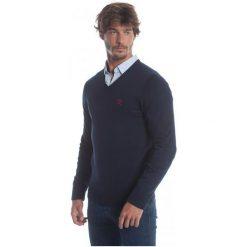 Polo Club C.H..A Sweter Męski L Ciemnoniebieski. Czarne swetry klasyczne męskie marki Polo Club C.H..A, l, dekolt w kształcie v. W wyprzedaży za 259,00 zł.