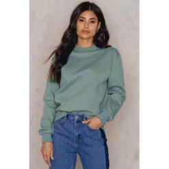 Bluzy polarowe: NA-KD Basic Bluza basic oversize - Green
