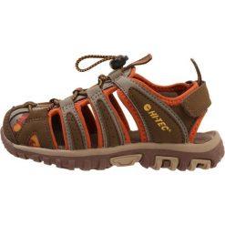 HiTec COVE Sandały trekkingowe brown/cinnamon/core gold. Brązowe sandały chłopięce Hi-tec, z materiału. Za 169,00 zł.