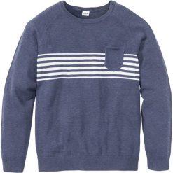 Swetry klasyczne męskie: Sweter z kieszonką Regular Fit bonprix indygo melanż