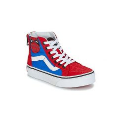 Buty Dziecko Vans  SK8-HI ZIP MARVEL. Czerwone trampki chłopięce marki Vans, z motywem z bajki. Za 259,00 zł.