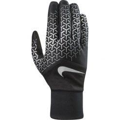 Rękawiczki męskie: Nike Rękawiczki męskie Printed Dri-fit Tempo 360 Run Gloves czarno-srebrne r. L